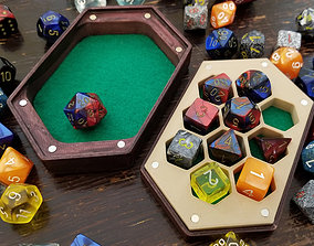 3D printable model Dice Box and Tray with Swappable