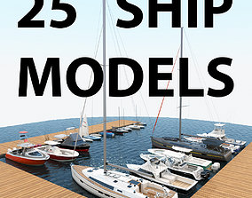 3D 25 Yacht and Boats models