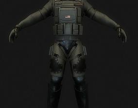 3D model Sci-fi soldier