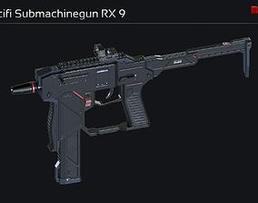 3D model Scifi Submachinegun RX 9