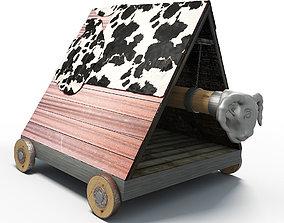 machine 3D model Battering ram