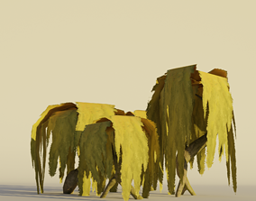Willow Tree Set Cartoon Stylized Hand painted 3D asset