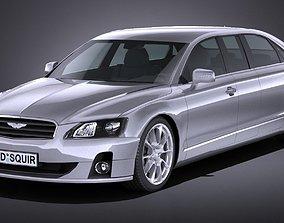 LowPoly Generic Limousine 2016 3D model