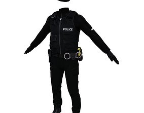 Police Officer 3D asset