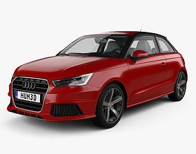 3D model Audi A1 3-door with HQ interior 2015