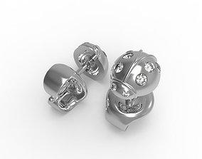 3D print model 0545 Ladybug Earrings