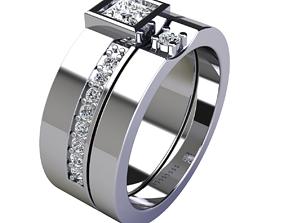 3D print model Weddding Set Ring