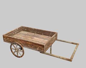 3D asset woodcart3