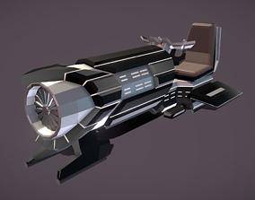 3D asset LS-340 Land Speeder