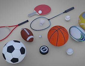 3D model Sports Pack Low poly Game Ready