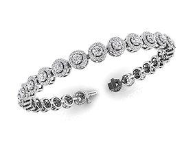 3D printable model Diamond Bracelet 7-Inch 1