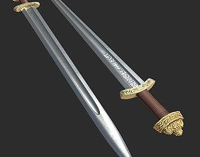 3D High Quality Viking Sword