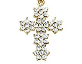 cross with stones 3D print model