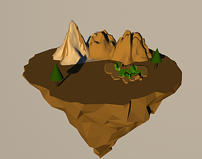 tree and mountains 3D model