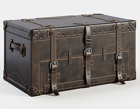 Leather Trunk 3D model