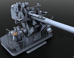 3D model 5-inch 25-caliber Mark 10 anti-aircraft gun