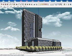 Sketchup hotel building G5 3D model