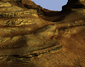 Eroded mountain desertscape 3D model