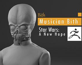 Bith - Bith musician Mos Eisley cantina - 3D print model 4