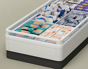 3D model Store display refrigerator freezer 01