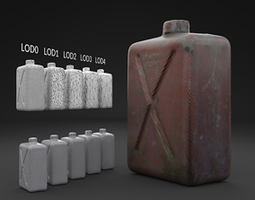 3D model Scanned Old Jerrycan LOW POLY LODs