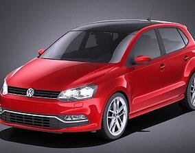 Volkswagen Polo 5-door 2015 VRAY 3D model