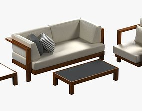 Tribu pure sofa and chair 3D