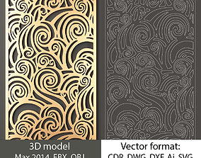 Decorative panel 152 model and vector