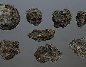 Asteroid Set 3D model realtime