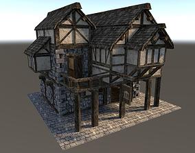 3D model Medieval City House 02