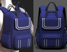 3D asset realtime Backpack Camping bag baggage pockets