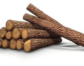 Log - Pine decks 3D asset