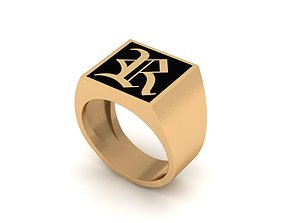 3D print model Old English Letter Ring R