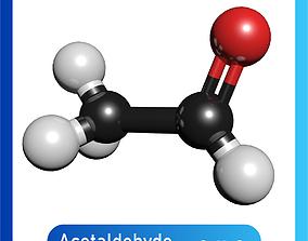 3D model Acetaldehyde C8H8O or C6H5COCH3