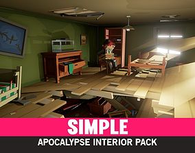 Simple Apocalypse Interiors - Cartoon Assets low-poly