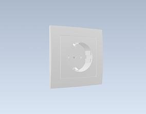 Electrical socket EKONOMIK WHITE 16A 230V 3D