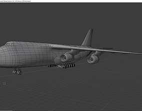 Antonov 124 lowpoly 3D model