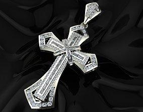 New Super Cross Pendant Full diamond 3D printable model