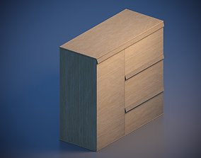 family Nightstand 3D asset low-poly