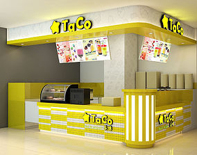 3D model Bubble tea yellow