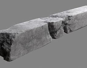 Damaged Concrete Column 04 3D asset