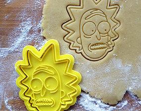 3D print model Rick cookie cutter