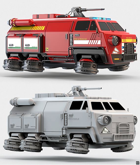Fire & Rescue Hover Transport Truck