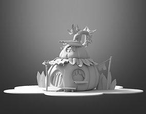fantasy 3D model Cartoon pumpkin house