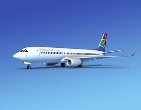 Boeing 737-800 South African Airlines 3D model