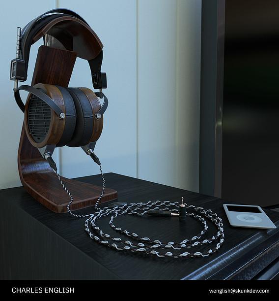 Headphones material study