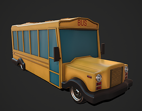 3D Cartoon Bus