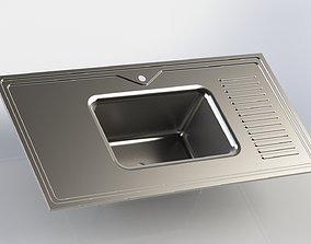 3D Kitchen Sink Design 1200mm x 600mm x 259mm Sheet Metal