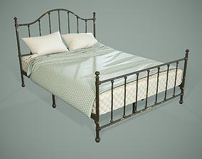 3D asset PBR Victorian Metal Bed