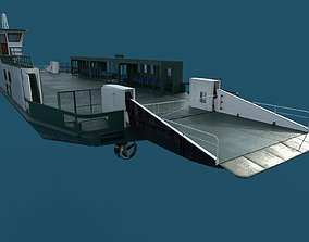 3D car ferry boat